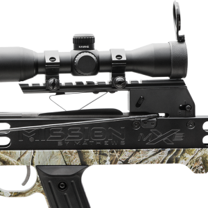 Integrated Scope Mount   At the heart of our MXB™ crossbows is the integrated BIAS Rail™, trigger, and scope mount system. This all-in-one system maintains positive scope to rail alignment for unparalleled accuracy and durability in all elements.