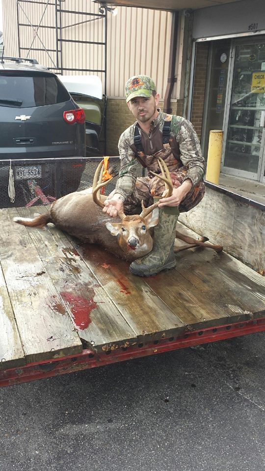 Congrats Richard on this nice 8 point killed in Gloucester this morning! Came right in to the Pete Richards Indian buck Lure. Thanks for bringing him in to show us.