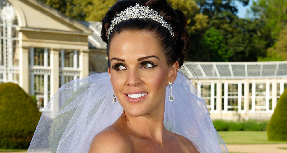 -Danielle Lloyd's wedding day to Jamie O'Hara. Natural style Make up.