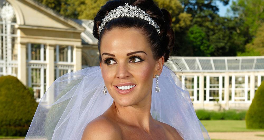 -Danielle Lloyd's wedding day to Jamie O'Hara. Natural style Make up.