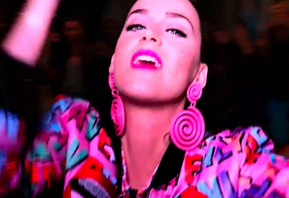 "Katy Perry wearing  HAYLEY ELSAESSER  in Madonna's "" Bitch I'm Madonna "" video"