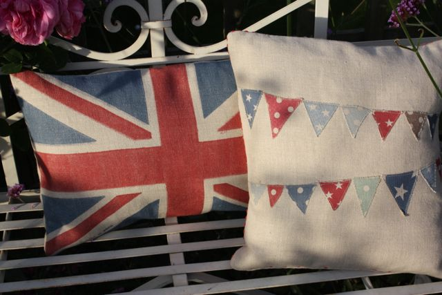 union jack  and bunting cushions £35