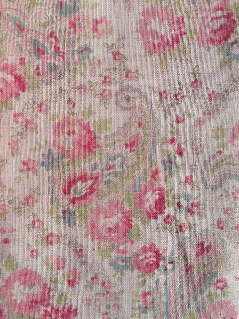 vintage paisley pink/nat