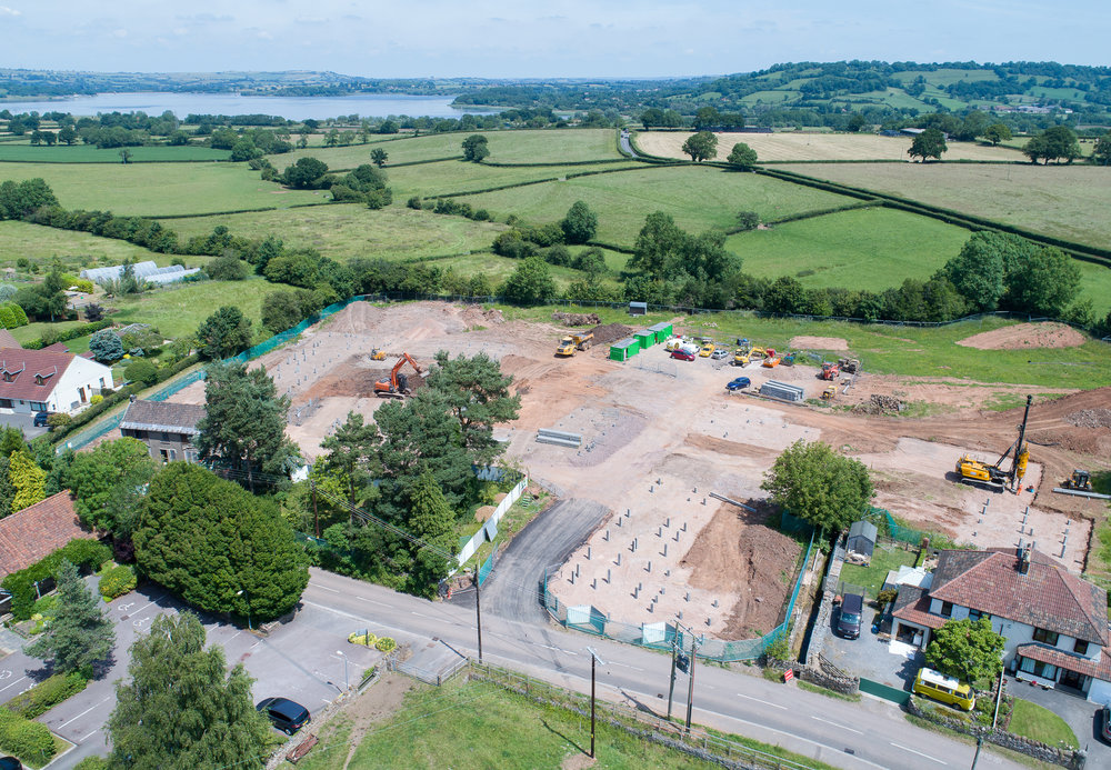 Love this aerial Image of our development in West Harptree Bristol,especially the fact that the lakes are in shot too