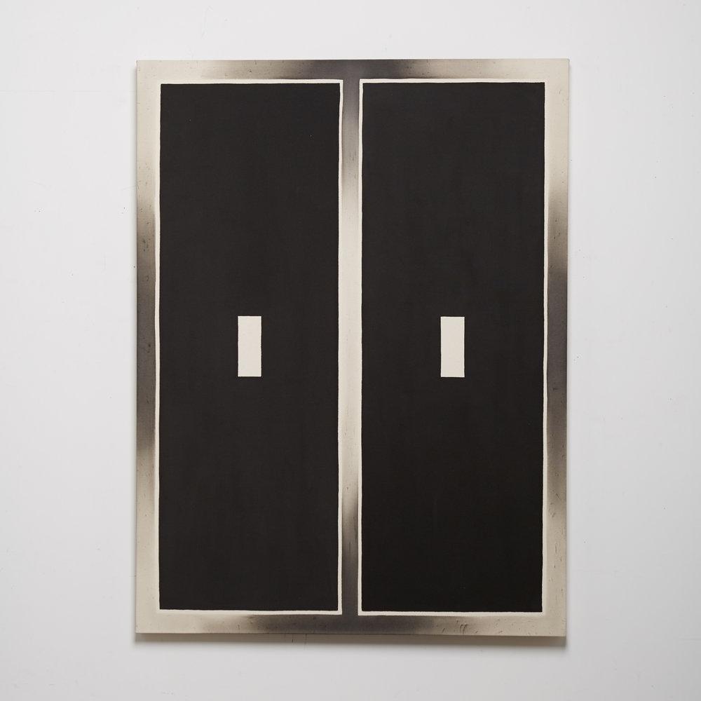 Black Channel Painting (Split Screen III)