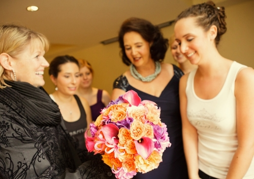 There is nothing quite so wonderful as presenting the long-awaited  bouquet to the bride....         each and every time!  Image Stina Booth Photography