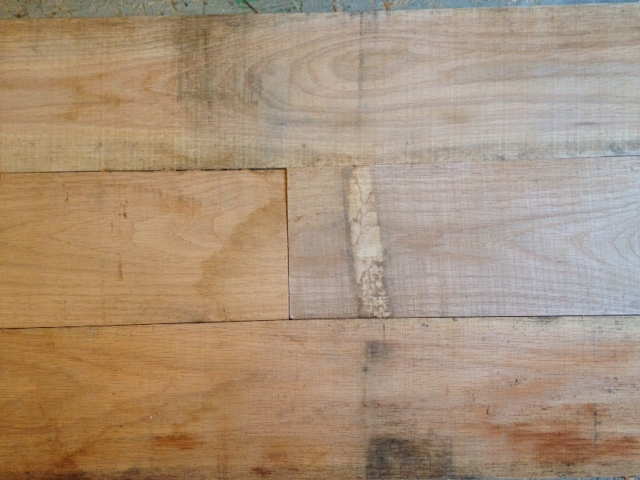 Re-sawn red oak that will serve as the interior walls