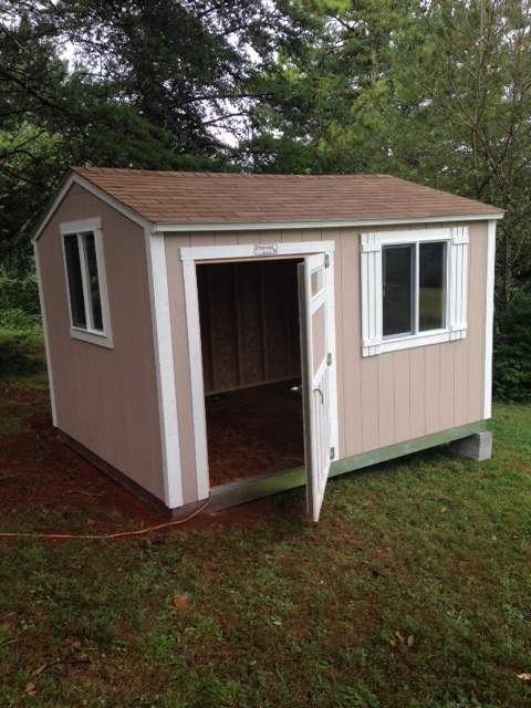 The shed shortly after the folks at Tuff Shed put it up.