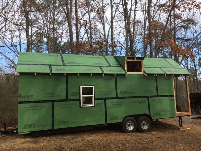 The roof is almost ready for the metal to be installed.  Still need to finish out the dormer with sheathing, and install the window.