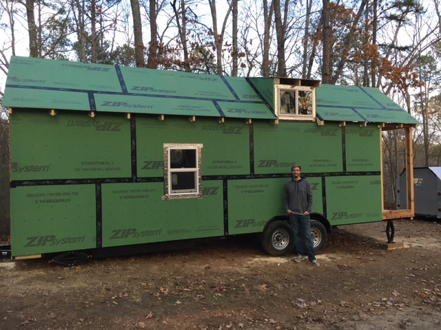 "Keller is 6'7"". It give you some scale to just how big this tiny house is."