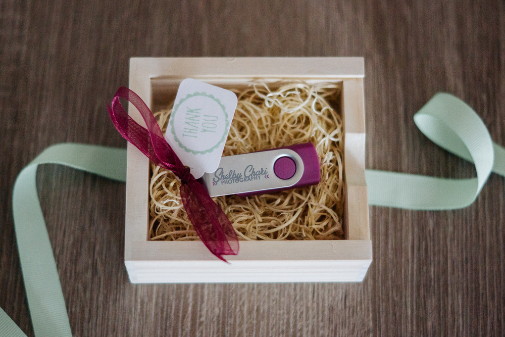 Shelby Chari Photography | South Bend Wedding Photography | USB Packaging