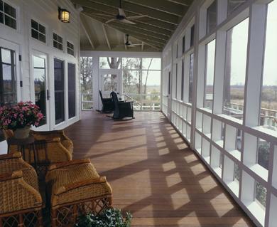 inside of porch