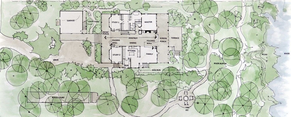 Coles floor plan frederick frederick residential for Dog trot house plans southern living