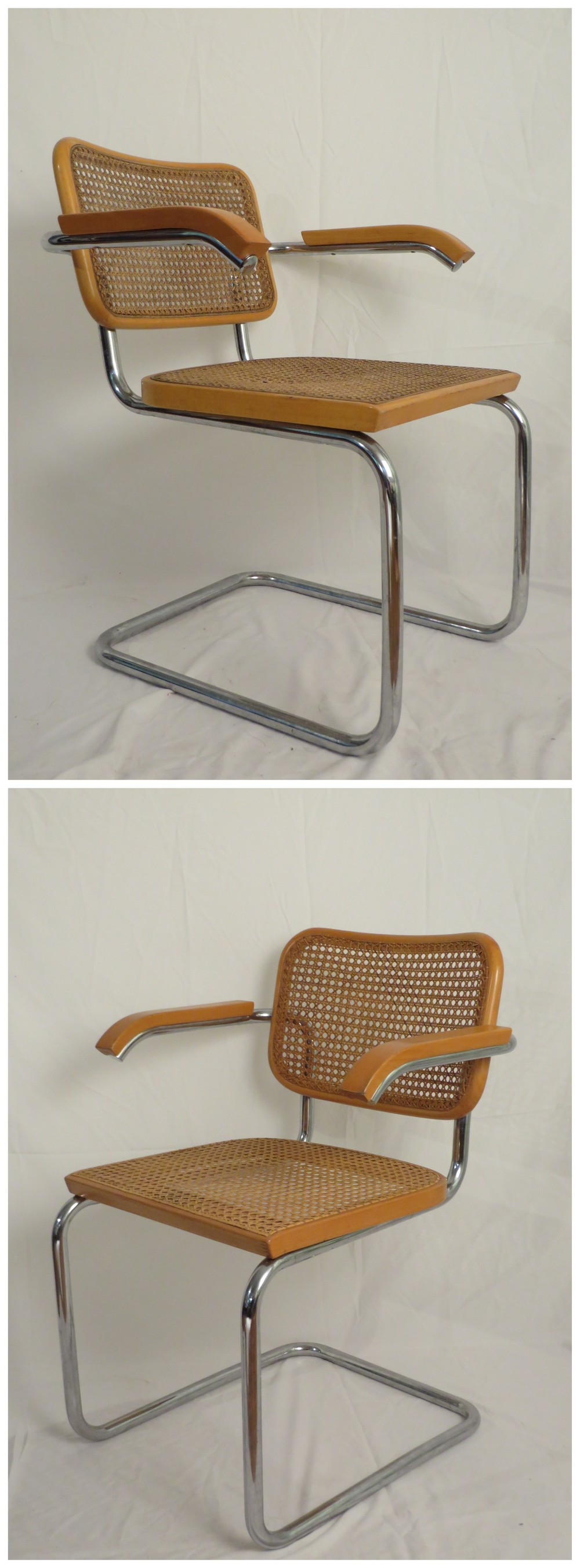 One of these was designed by Marcel Breuer & produced by Knoll. The other is a reproduction.