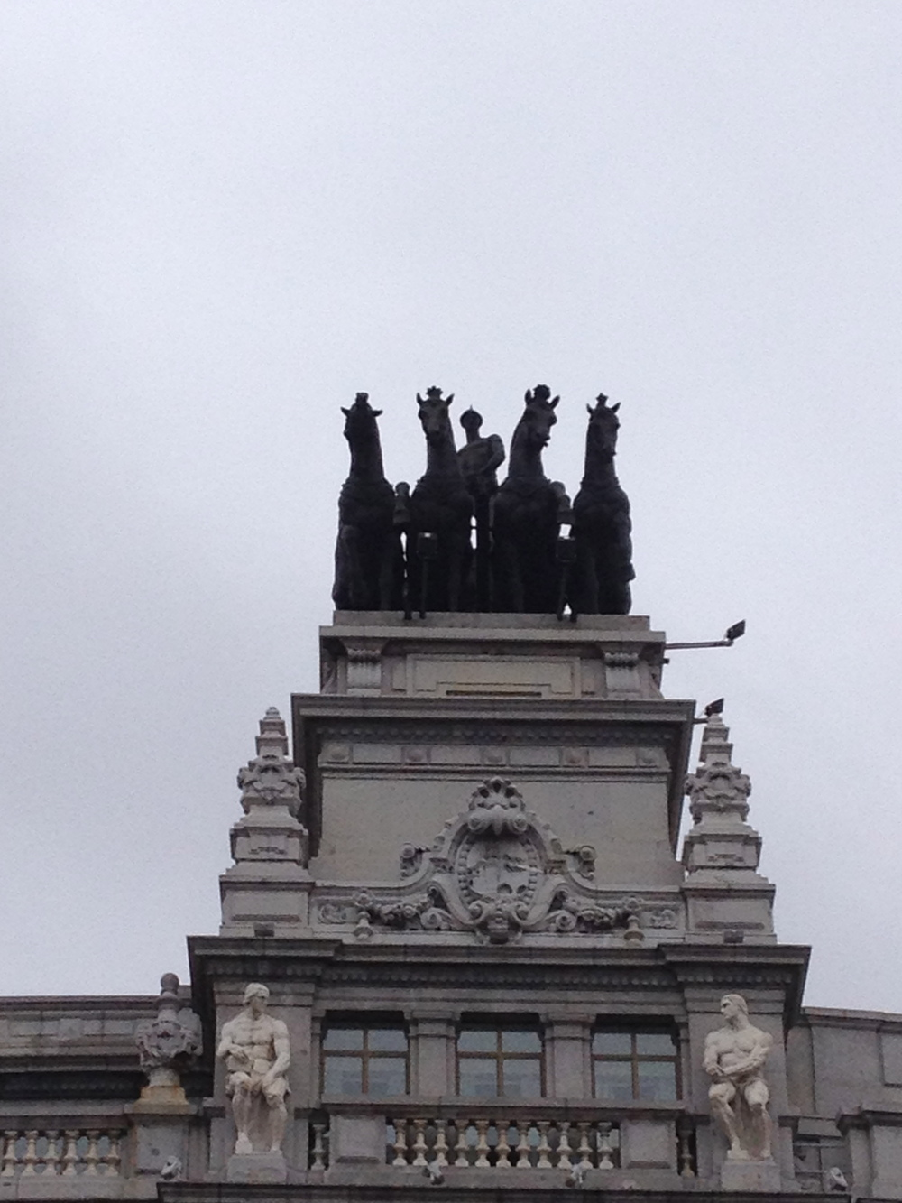 Spain is full of great statues on the tops of their buildings.