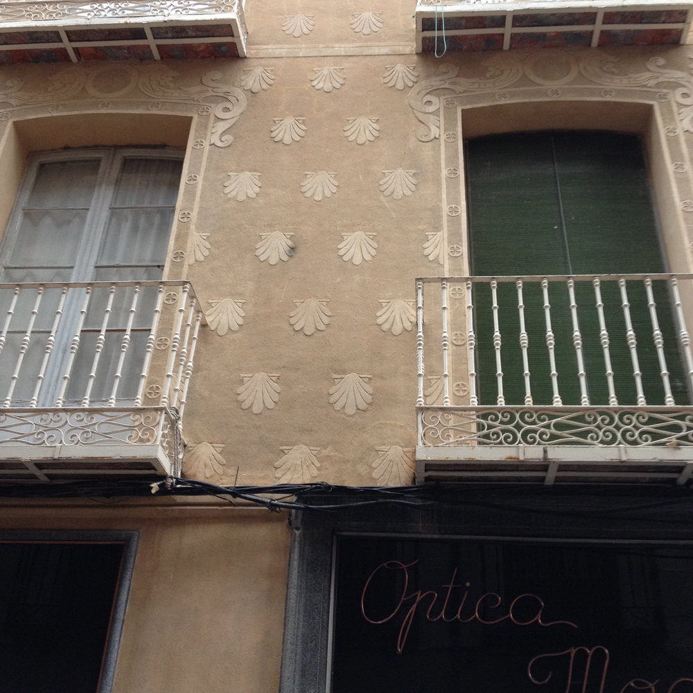 Scallop Shell Carved Stucco