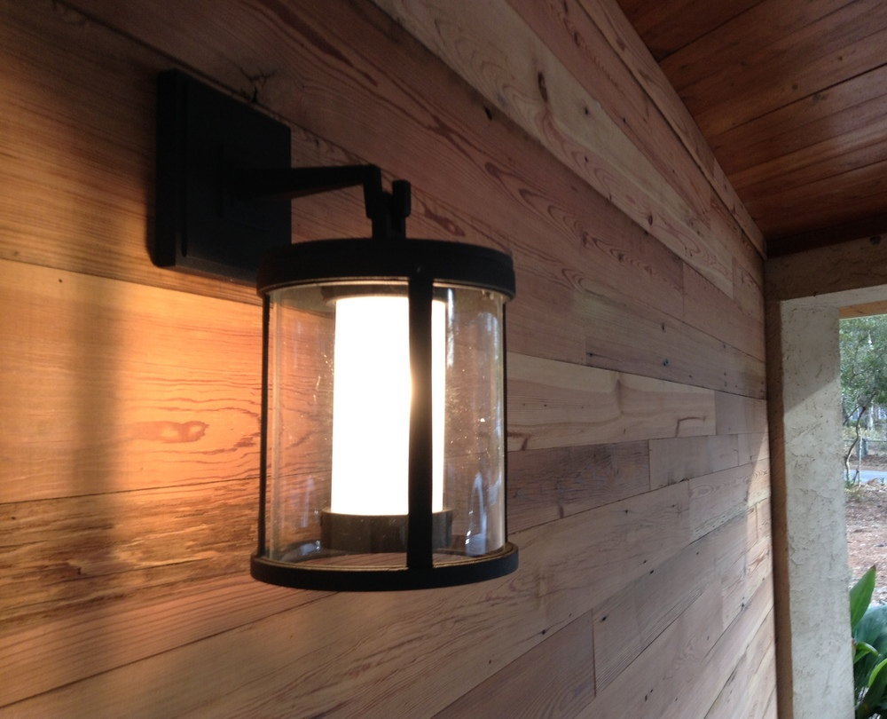 Our new exterior light at Frederick + Frederick from Restoration Hardware.