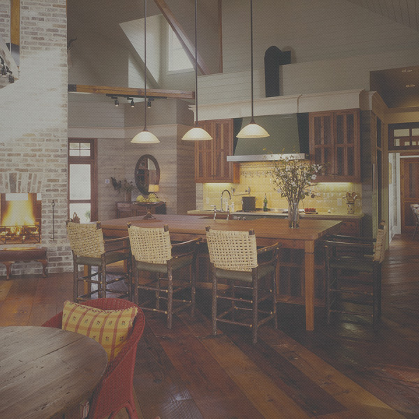"""Great kitchens for hanging out in"" Cabin Life, April 2012"