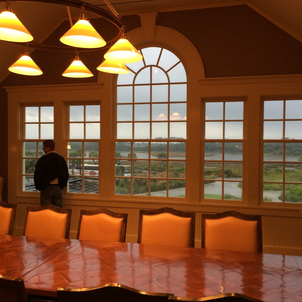 View from the boardroom at the Kiawah Ocean Course Club. Designed by Robert A.M. Stern