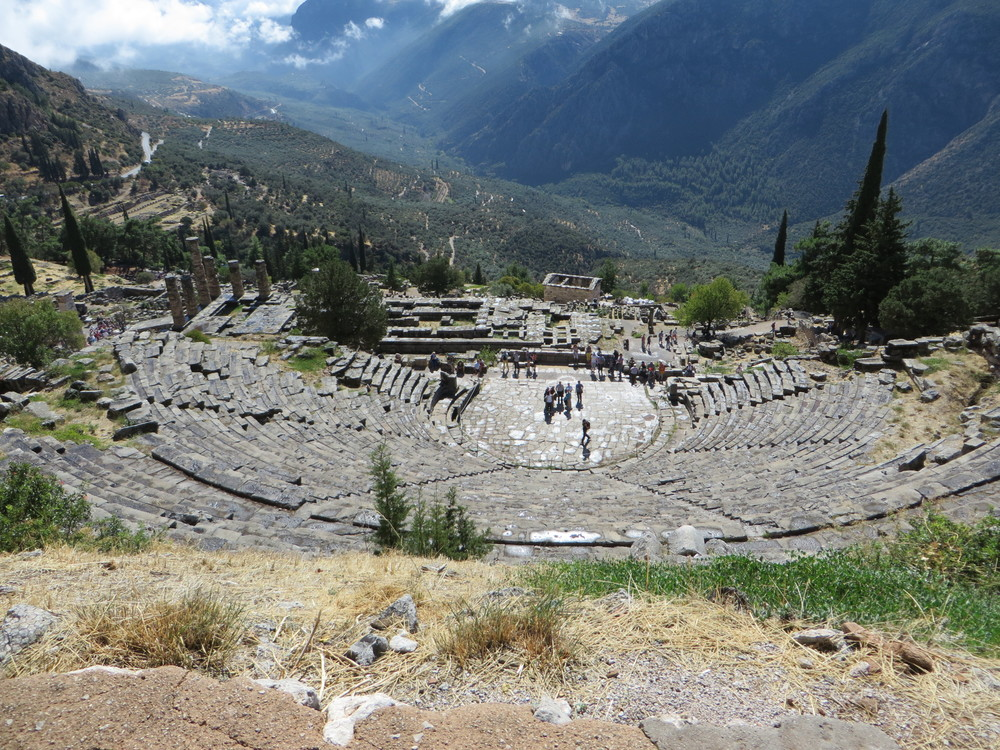The Theatre at Delphi could seat 5000.