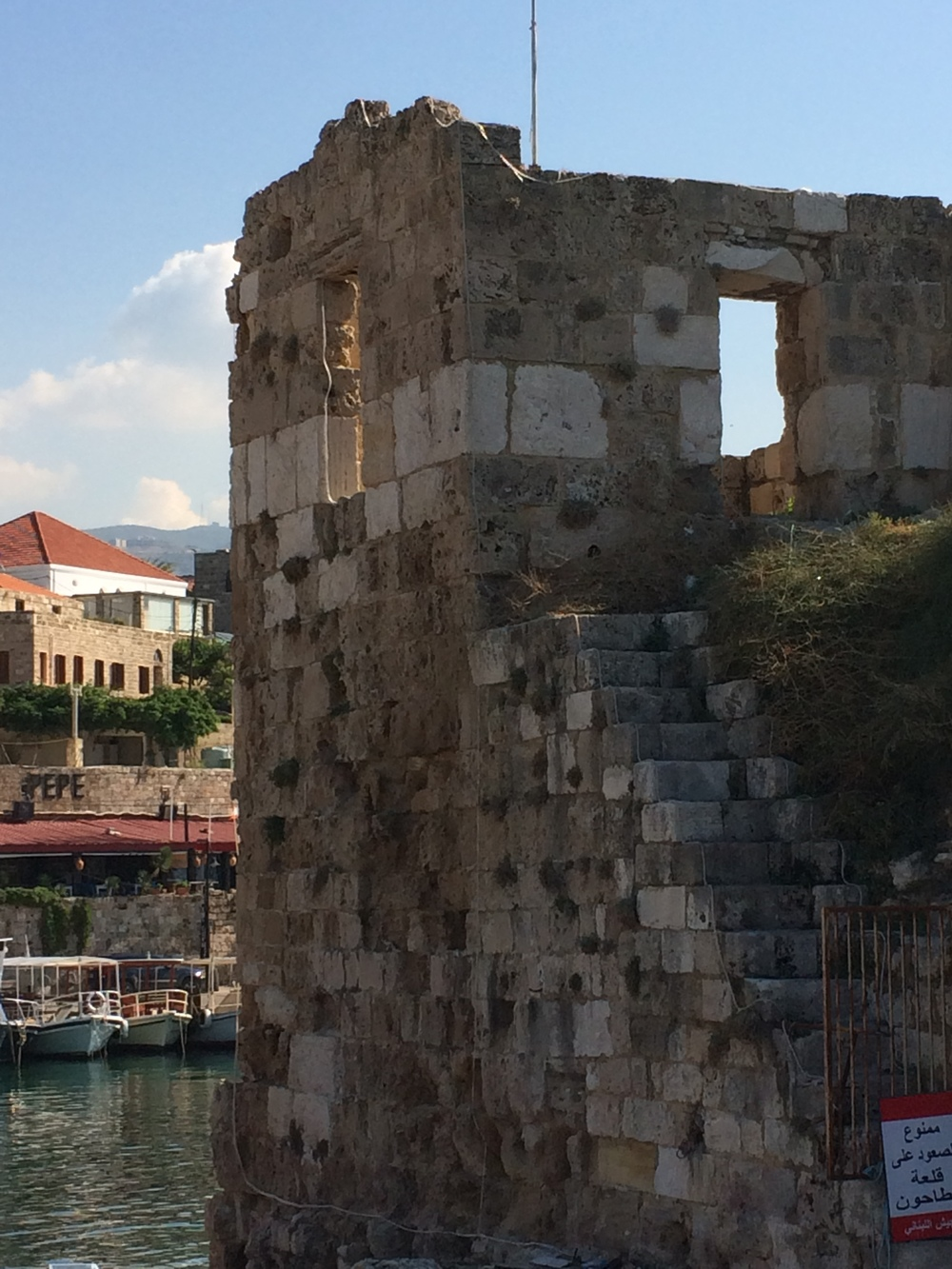 Roman ruins at the port in Byblos