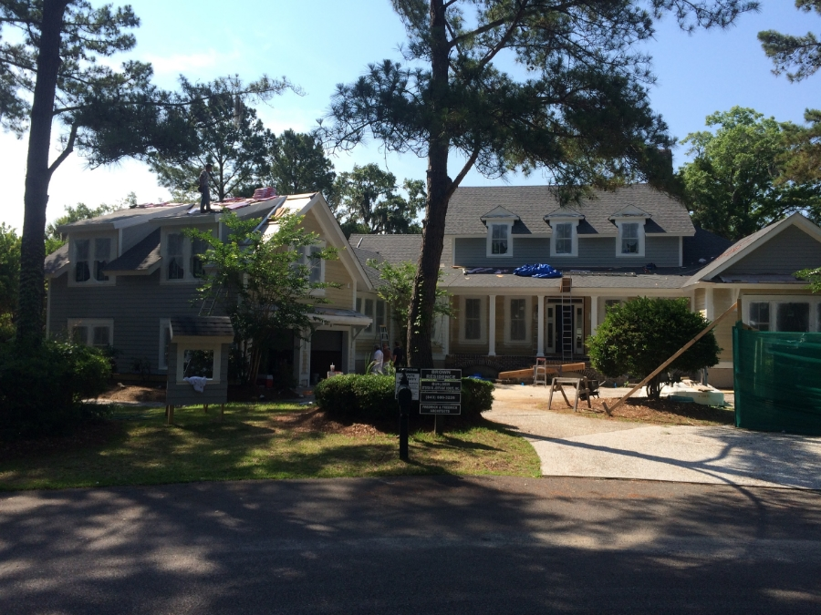 Whole house renovation under construction  in Colleton River