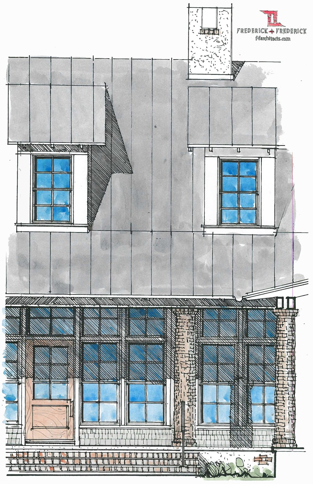 Exterior detail drawing