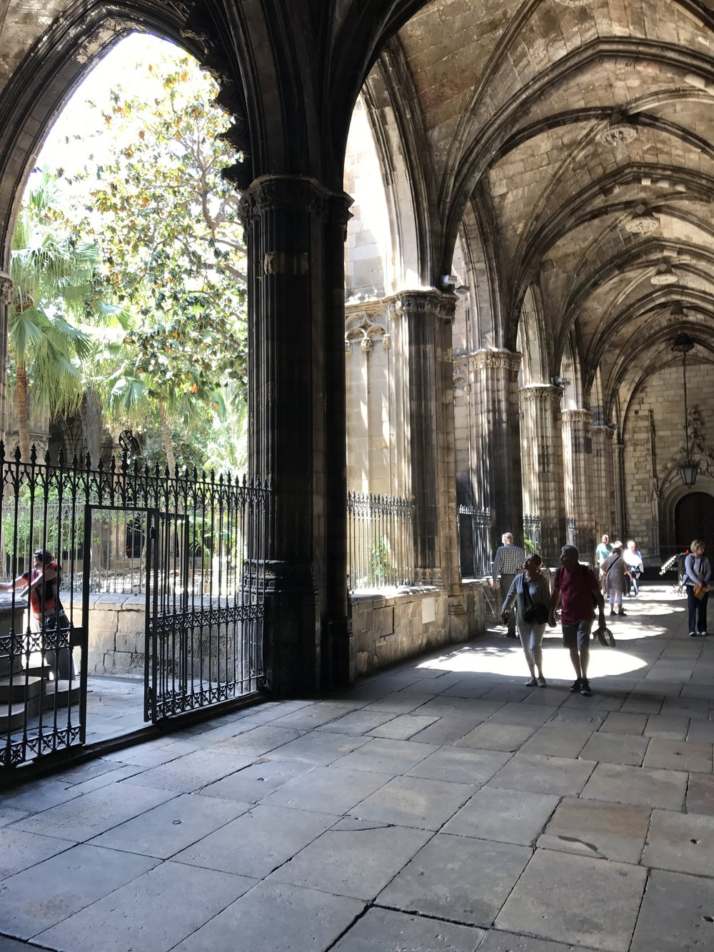Barcelona Cathedral cloisters