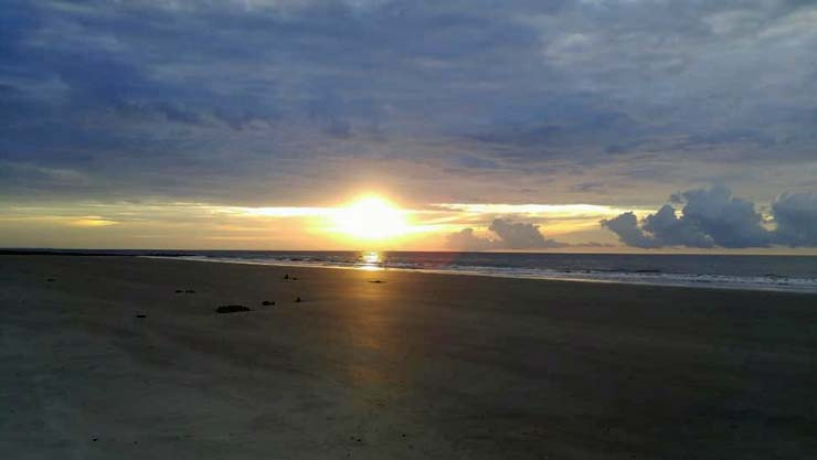 Hunting Island sunrise over the ocean. Simply gorgeous!