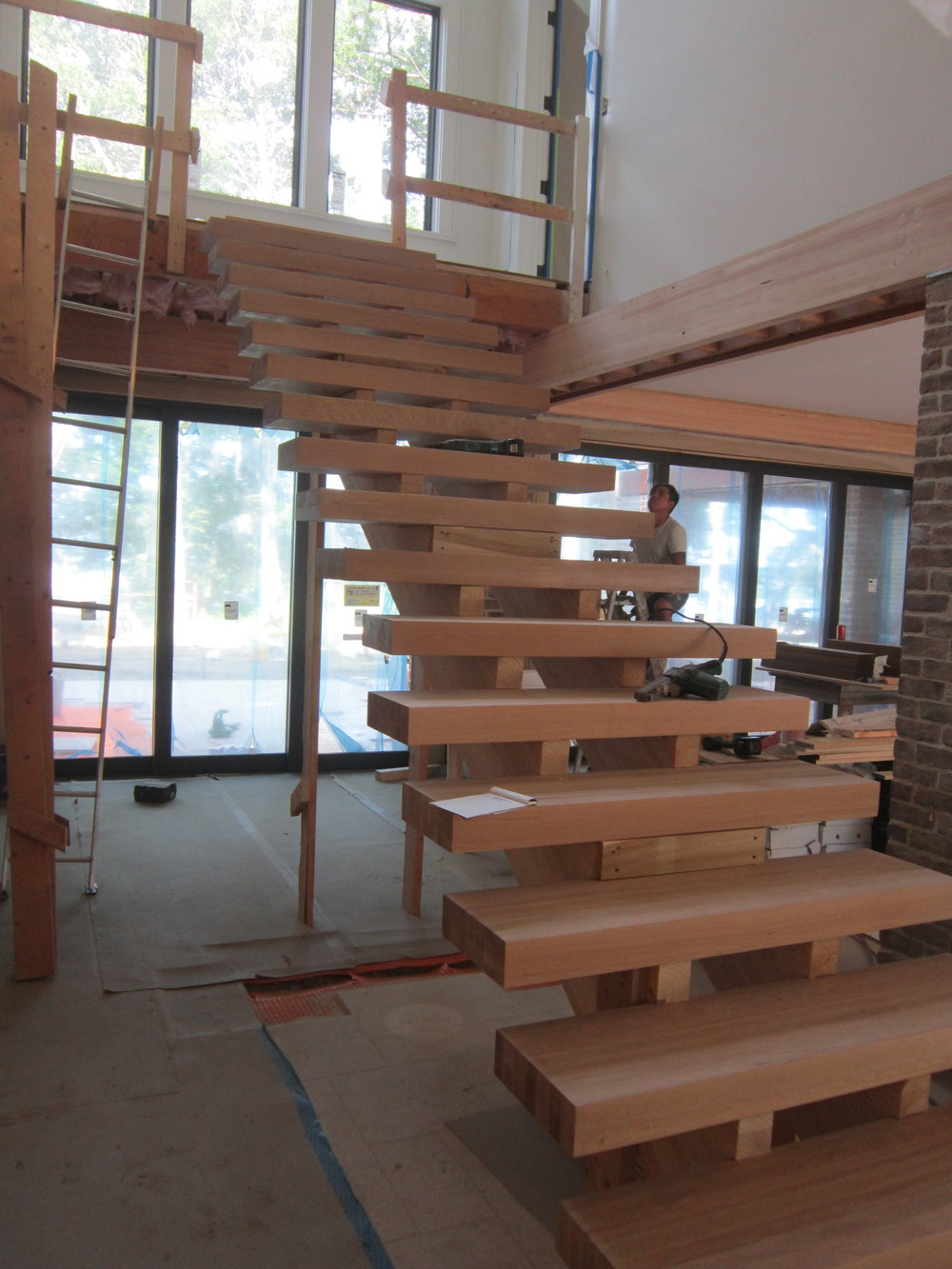 We are looking forward to seeing the stairs finished