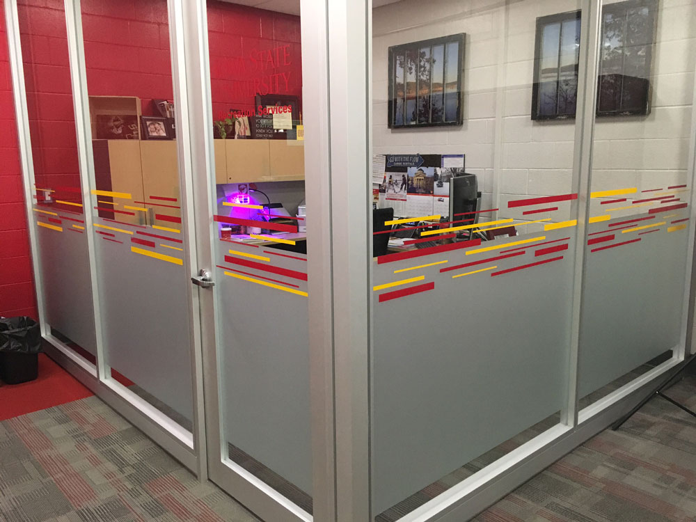 ISU-Rec-Services-Jenny-Polard-office-frosted-crystal-vinyl-stripes.jpg