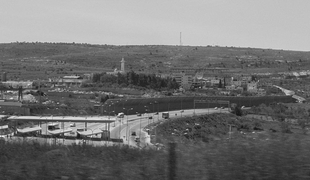 Israeli military checkpoint/barrier in Beit Jala area (Al Khader village), 2016