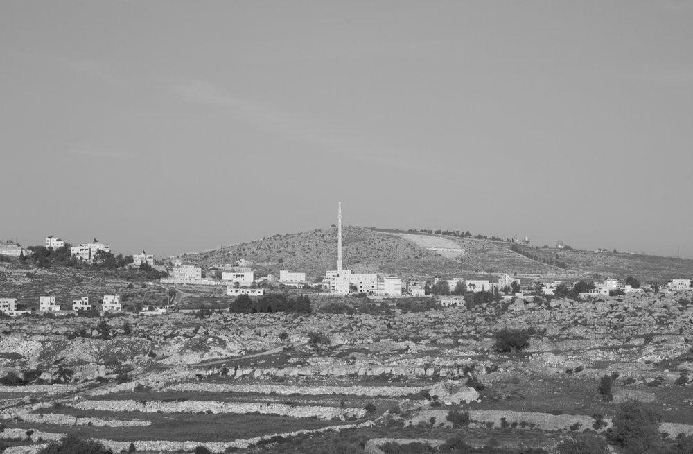 [observational tour V], Silwad village (notice the upper right corner), 2016