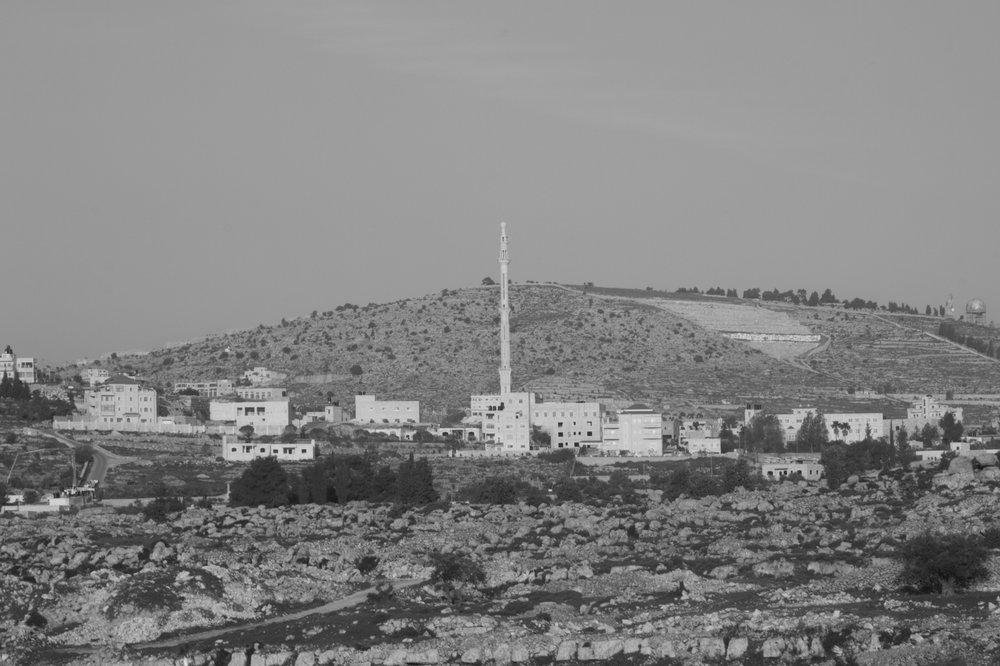 [observational tour VI], Silwad village (notice the upper right corner), 2016