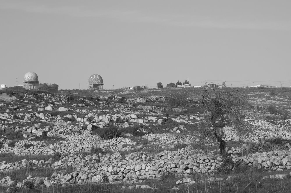 [observational tour VII], Tall Asur, 2016. Tall Asur - is a hill and one of the highest points in the West Bank, with an altitude of 1,016 metres (3,333 ft). It has two peaks, one of them is an Israeli military base.