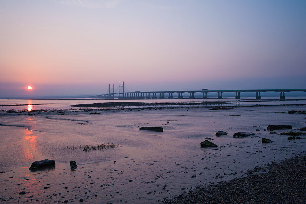22nd Severn Bridge at Sunset
