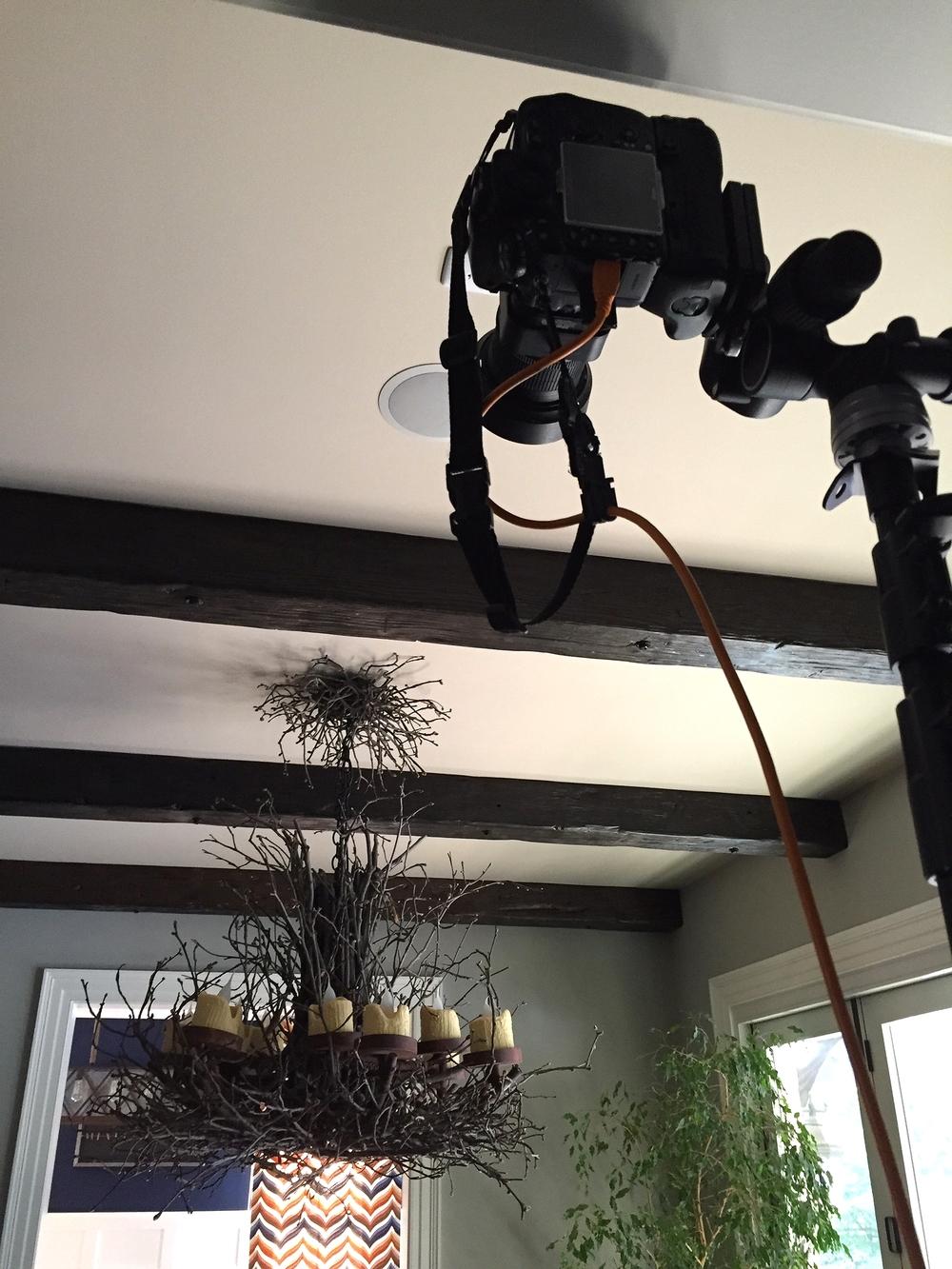 Camera mounted on a 24' camera stand