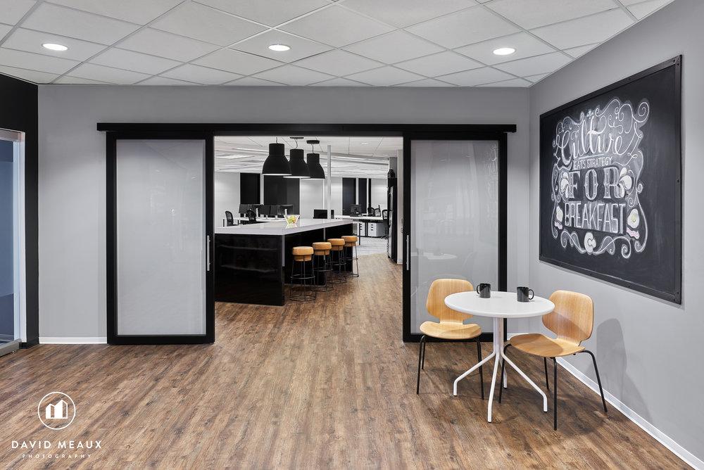 Reception area + Kitchen