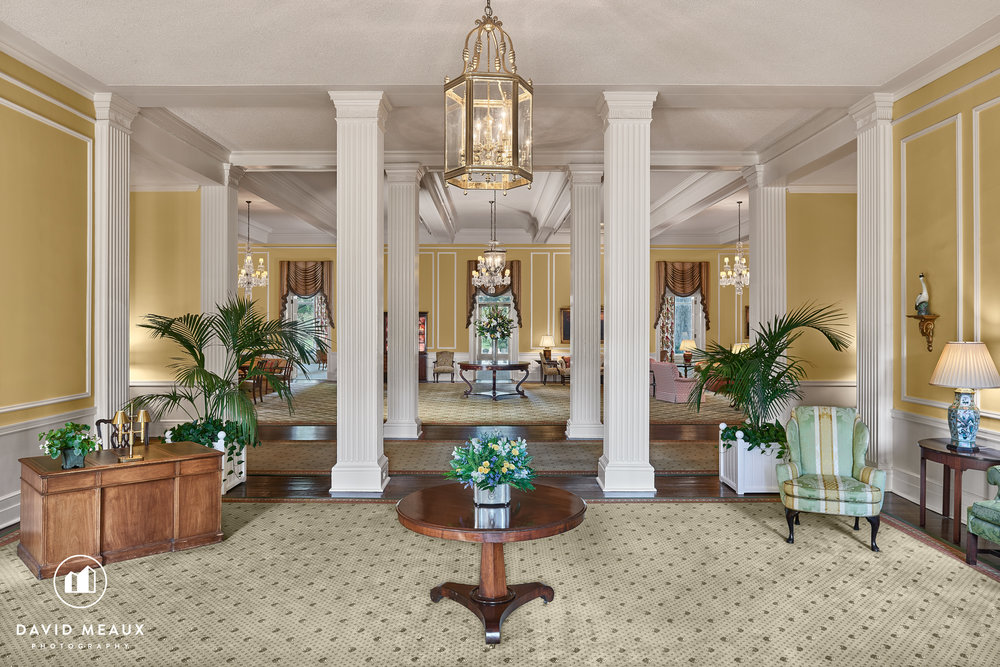 Entrance to Chevy Chase Club's Club House.