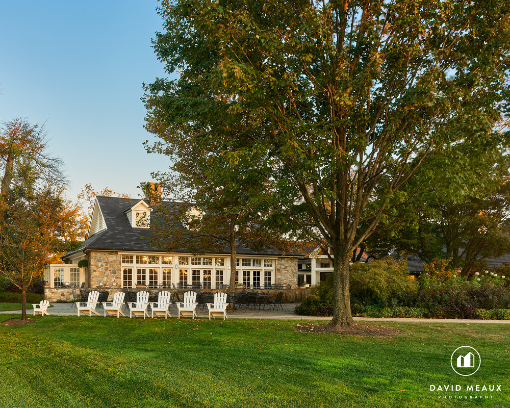 Late afternoon image of the Winter Center, Chevy Chase Club, MD.