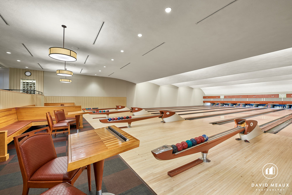 Bowling Alley in the Winter Center, Chevy Chase Club, MD.