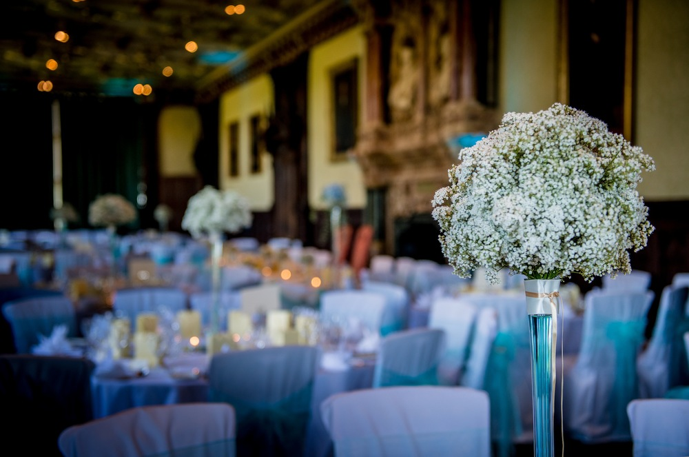 Gypsophila Clouds, elegant table centrepiece