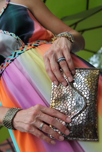 JJ Winters Clutch, Stella Dot Bracelets