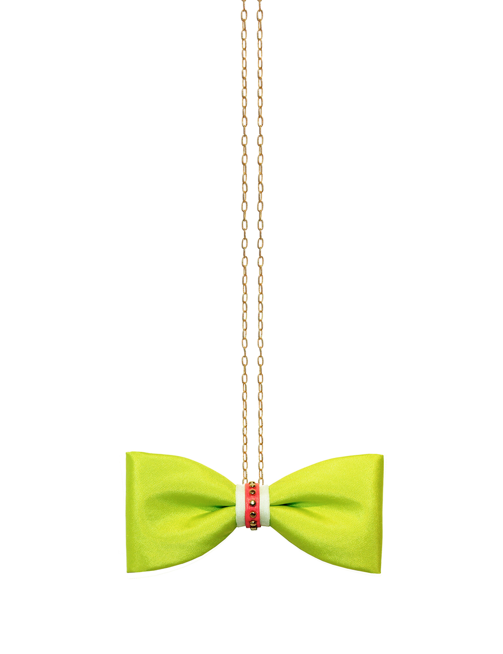 ZuZu Kim Green bow tie with chain  (1).jpg