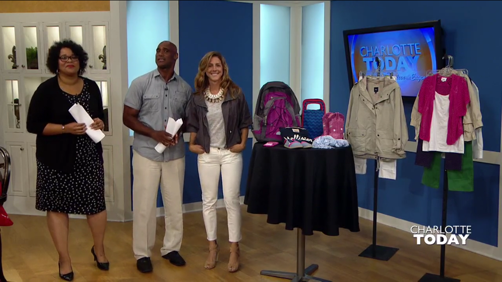 I wore my white   J.Crew denim   for a recent   Goodwill Back To School   television segment. Sorry, Eugene, for catching you mid sentence!  I paired my white denim with my new   Twine + Twig   Cowrie Collar made by my friends and talented sisters,   Elizabeth and Jacquelyn  .