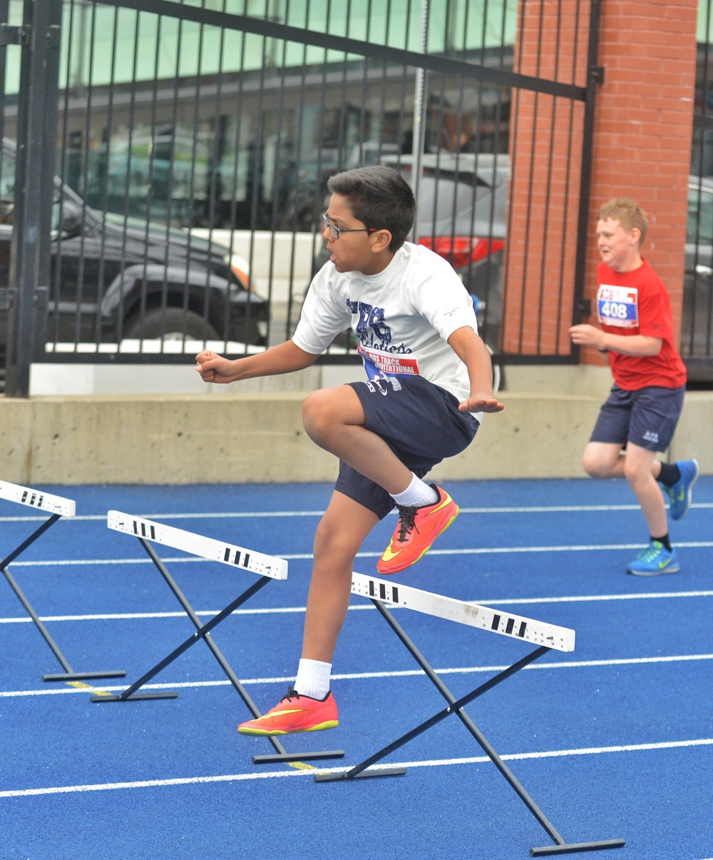 Just learning these hurtles in Boys U-12 110m Hurtles.