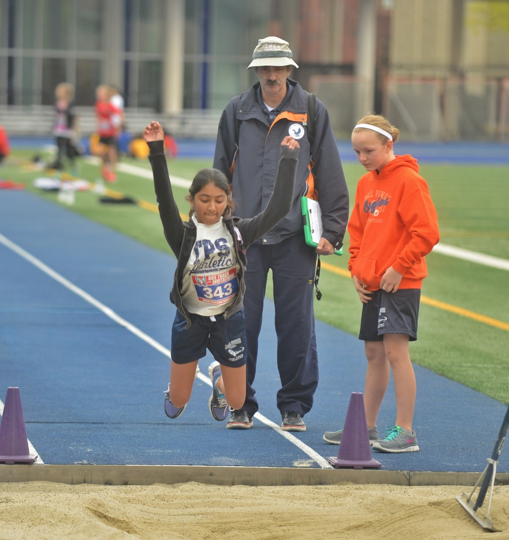 Look Mr. B - I can fly - Girls U-12 Standing Long Jump.