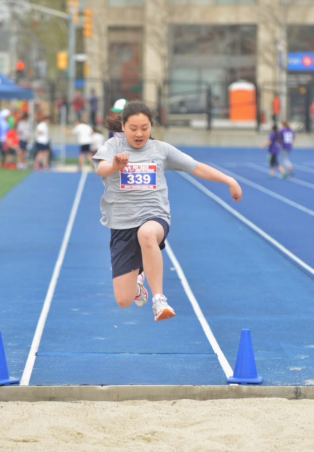 Taking jumping to the next level - Girls U-14 Running Long Jump.