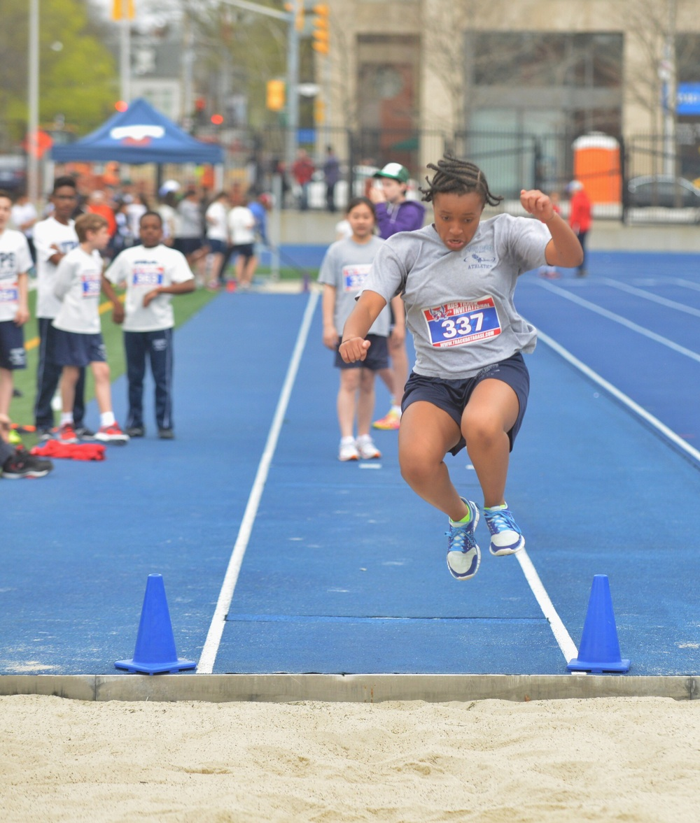 Girls U-14 Running Long Jump.
