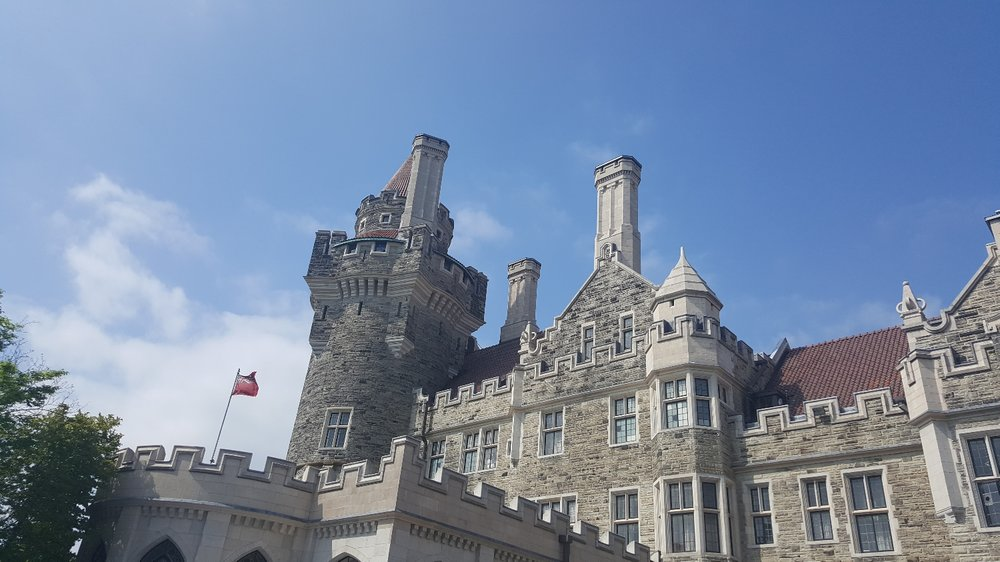Although there are battlements atop the walls, Casa Loma is not an actual castle, as it was not built with the fortifications to withstand a military assault.